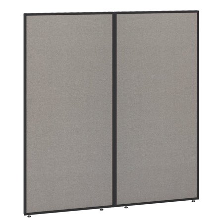 Bush Business Furniture ProPanels 66H x 60W Office Partition in Light Gray