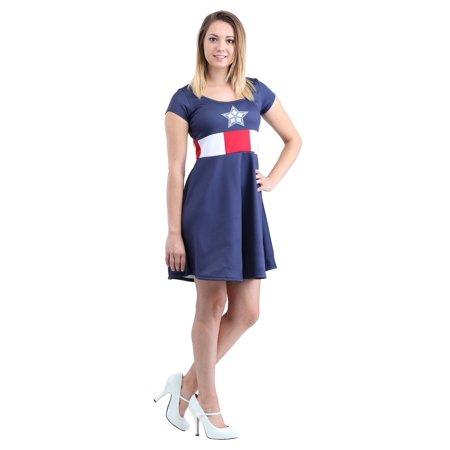 Captain America Marvel Dress