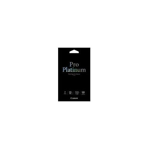 Canon Photo Paper Pro Platinum - 4 in x 6 in 100 sheet(s) photo paper - for PIXMA MG5720, MG5721, MG5722, MG6821, MG6822, MG7720, TS5020, TS6020, TS8020, TS9020