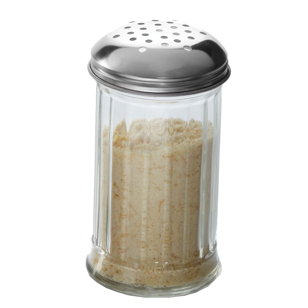American Metalcraft GLA312 12 Oz. Glass Cheese Shaker with S/S Lid