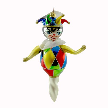 Laved Italian Ornaments JESTER TWIST Glass Clown CR44