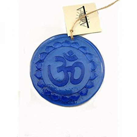 Ohm Suncatcher 100% Recycled Glass - Made in USA - Om