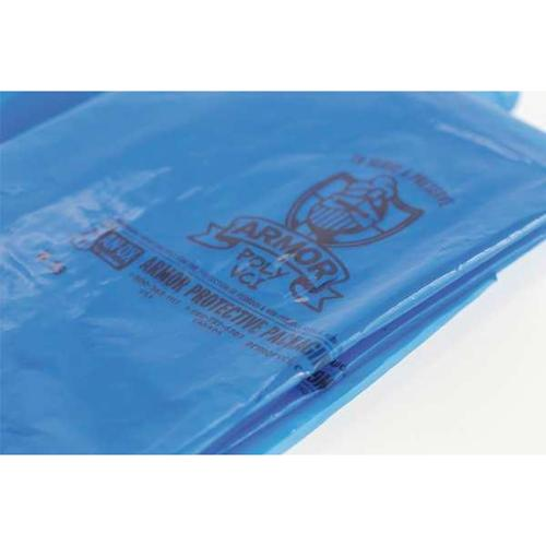 """ARMOR POLY 27"""" x 20"""" Blue VCI Gusseted Bags, 4 mil, Pk100, PVCIBAG4MB272025COEX-D"""