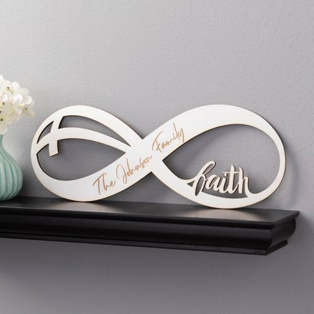 - Infinite Faith Personalized White Wood Plaque