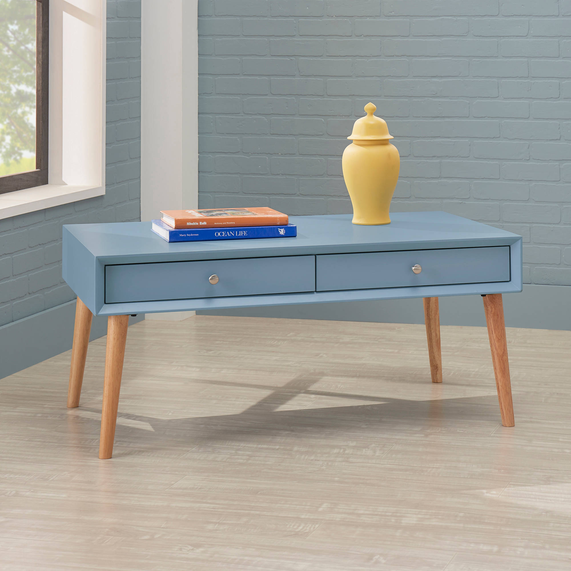 Chelsea Lane Adlai 2-Drawer Coffee Table, Multiple Colors