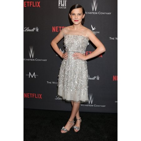 Millie Bobby Brown (Wearing Jenny Packham) At The After-Party For The Weinstein Company & Netflix 2017 Golden Globes After Party One Beverly Hills At 9900 Wilshire Boulevard Beverly Hills Ca January 8 - Halloween On Netflix 2017