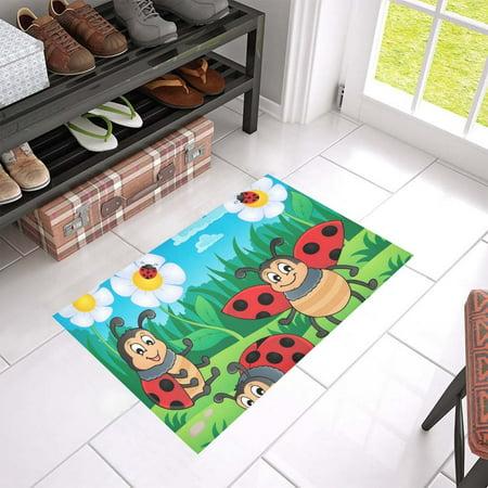 MKHERT Ladybug Doormat Rug Home Decor Floor Mat Bath Mat 23.6x15.7 inch