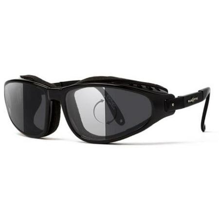7Eye by Panoptix Mens AirShield Raptor FX Sunglasses, RX Ready, Glossy Black Fra (Rx Sunglasses)