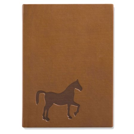 Eccolo Brown Embossed Horse Leather Journal - Lined