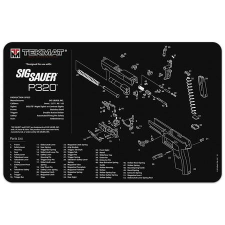 Sig Sauer P320 Gun Cleaning Mat Thick Durable