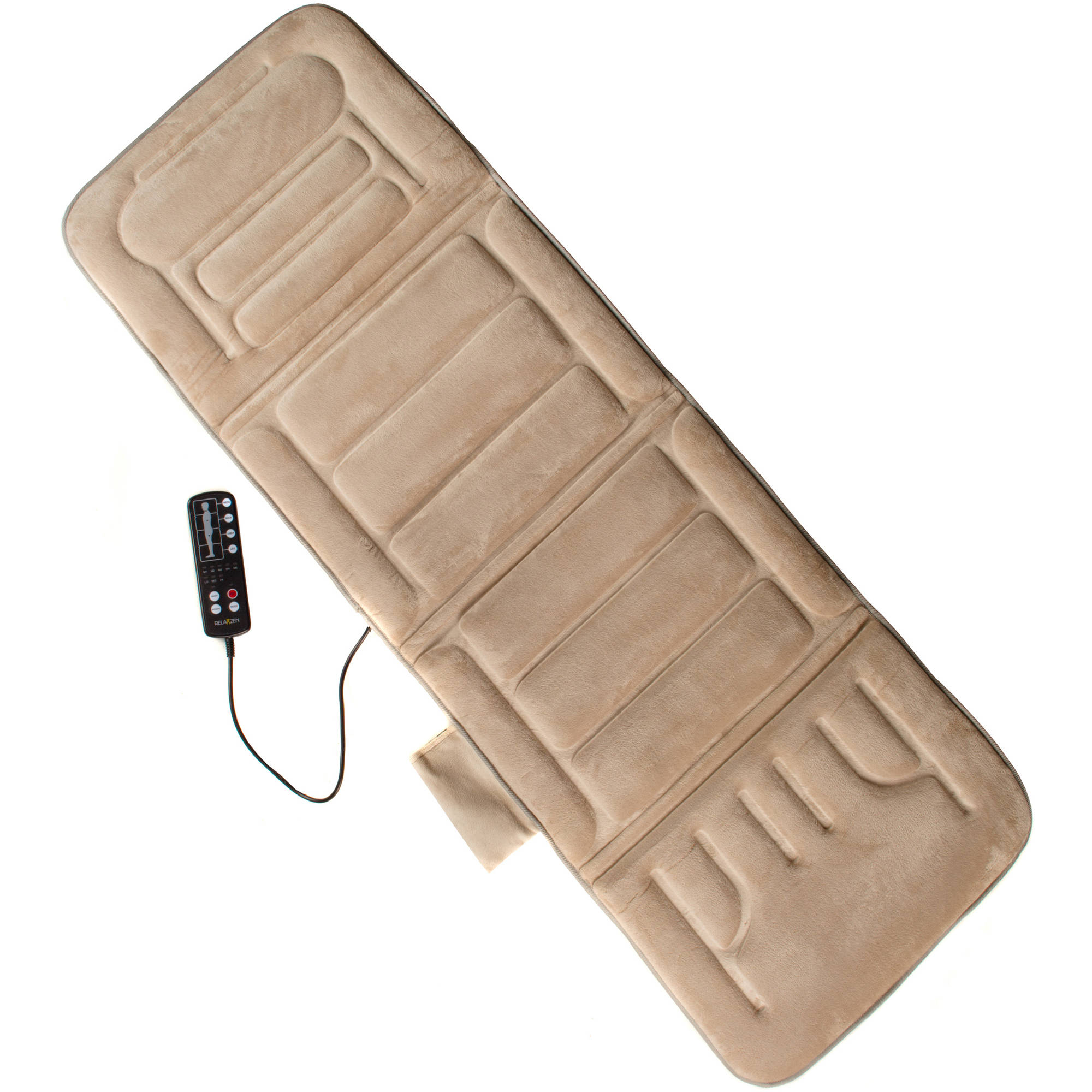 Relaxzen Memory Foam Lumbar Support Massage Cushion with Heat