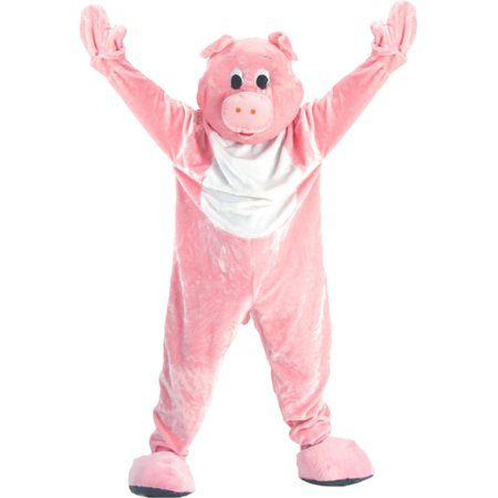 Pig Mascot Adult Halloween Costume - One Size