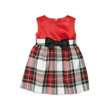 Baby Girl's Tartan Plaid Party Dress - Bebe Party Dress