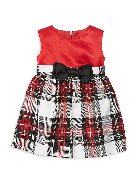 Baby Girl's Tartan Plaid Party Dress