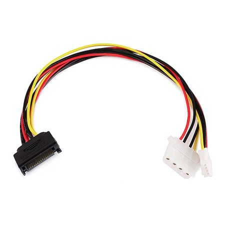 Monoprice12inch SATA 15pin Male to 4pin Molex and 4pin Power Cable