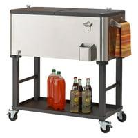 TRINITY 80 Quart Stainless Steel Cooler | Detachable Tub