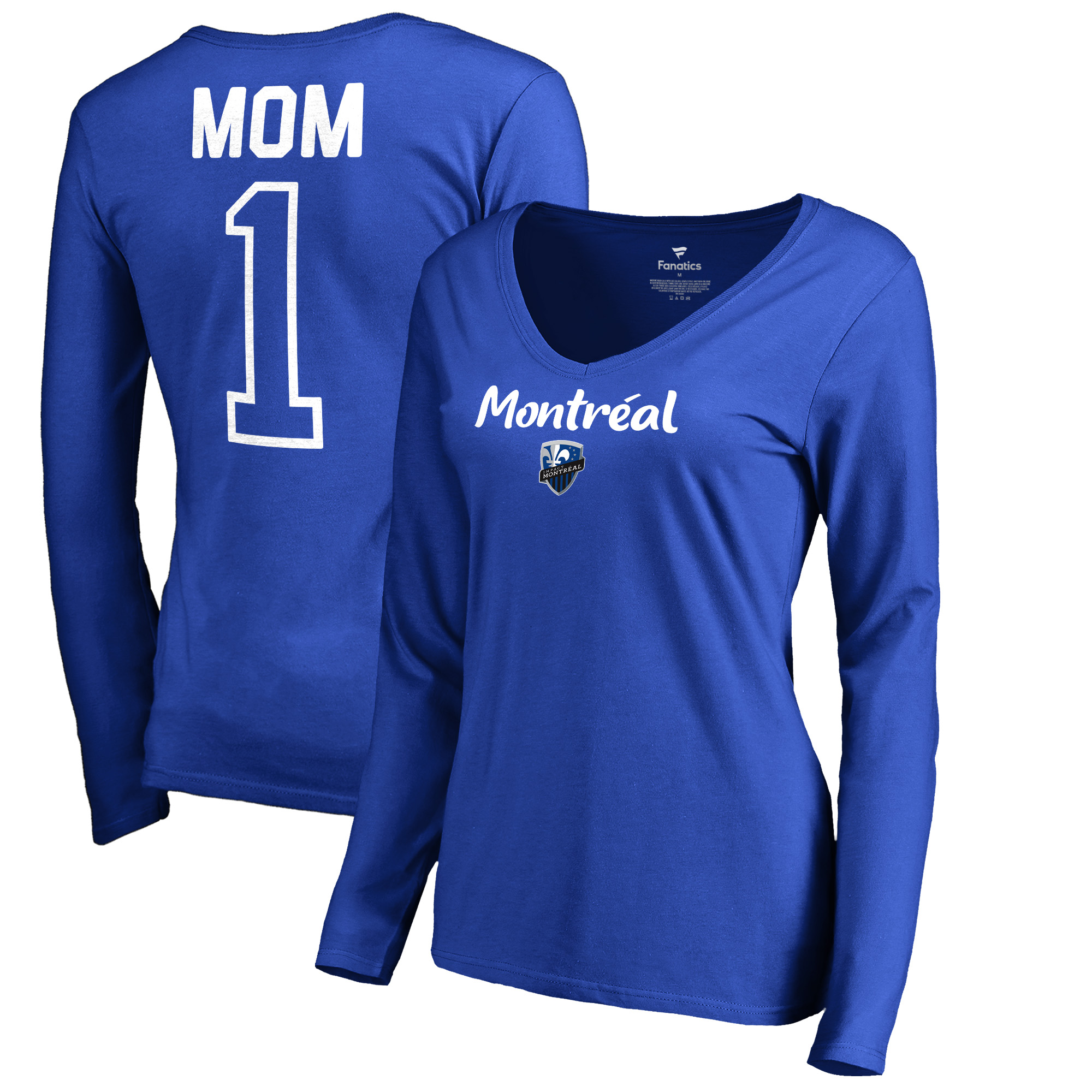 Montreal Impact Fanatics Branded Women's #1 Mom V-Neck Long Sleeve T-Shirt - Royal