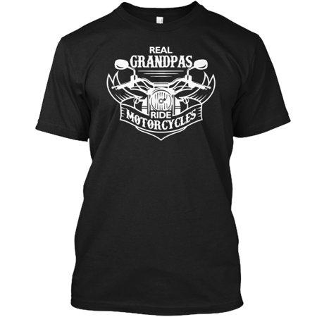 (Real Grandpas Ride Motorcycles Tagless Tee T-Shirt)