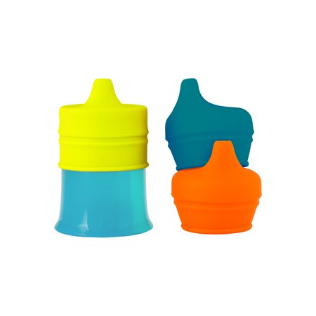 BOON Snug Spout with Cup - Blue/Orange/Green