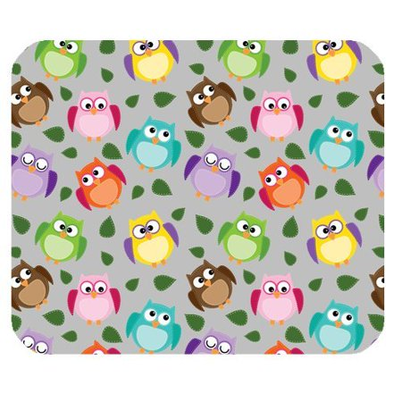 Colorful Collection (MKHERT Animal Print Colorful Owl Collection Rectangle Mousepad Mat For Mouse Mice Size 9.84x7.87 inches)