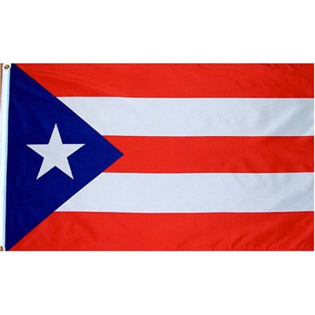 Puerto Rico Flag 3x5 ft | 150D Durable Polyester, Brass Grommets