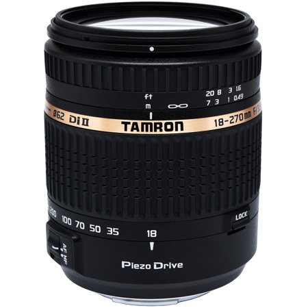 Built In Camera - Tamron Auto Focus 18-270mm f/3.5-6.3 PZD All-In-One Zoom Lens with Built in Motor for Sony DSLR Cameras (Model B008S)