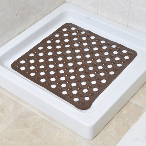 Evideco Non Skid Square Shower Mat