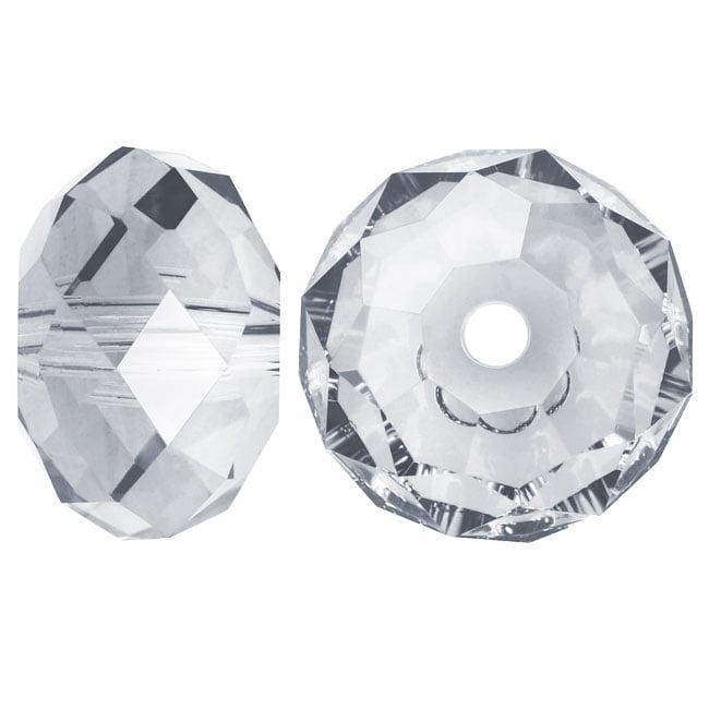 Swarovski Crystal, #5040 Rondelle Beads 4mm, 12 Pieces, Crystal