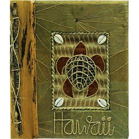 "Islander Hawaii Photo Album Turtle with Green Leaf 12"" x 14"""