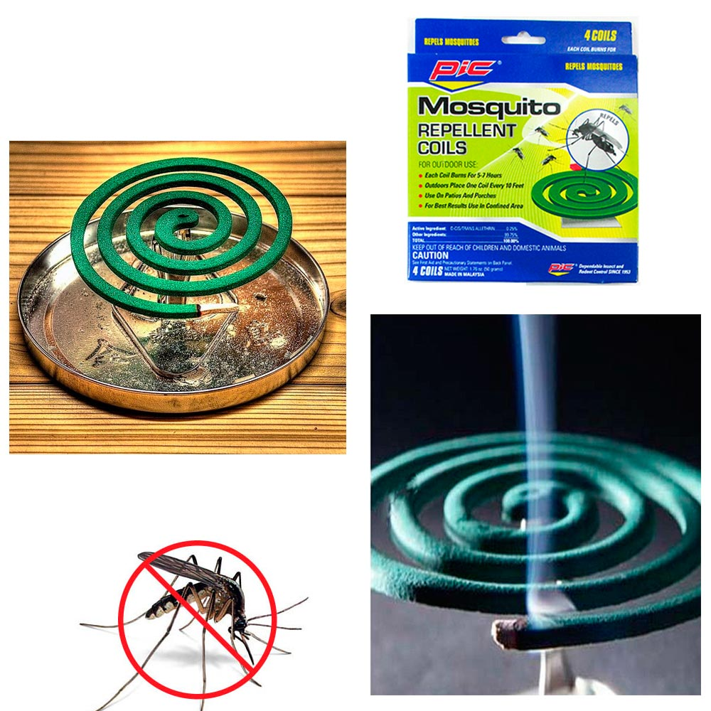 8 Pks Mosquito Repellent 32 Coils Outdoor Use Skin Protection Insect Bite Sting