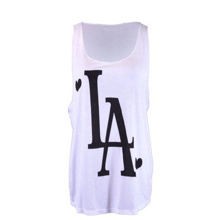 Michelle The Player Hearts of LA Scoop Neckline Jersey Knit Loose Tank Top