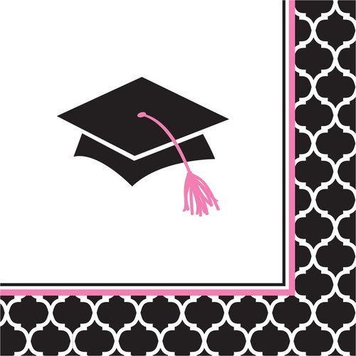 Glamorous Grad Beverage Napkins, 5\ by CREATIVE CONVERTING