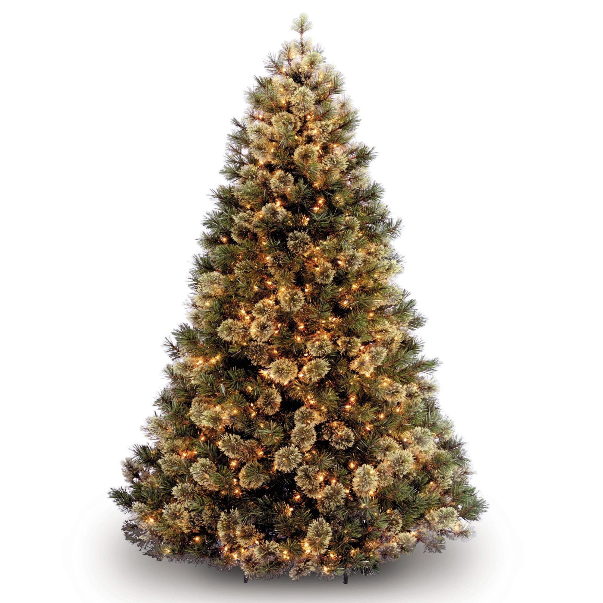 7.5' Pre-Lit Medium Wispy Willow Artificial Christmas Tree ...