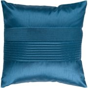 "22"" Azure Blue Tuxedo Pleated Decorative Throw Pillow"