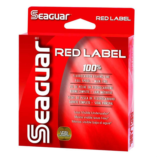 Seaguar Red Label 100 Percent Fluorocarbon Fishing Line, 250 yds