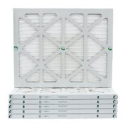 6 Pack of 16x20x1 MERV 10 Pleated Air Filters by Glasfloss. Actual Size: 15-1/2 x 19-1/2 x 7/8