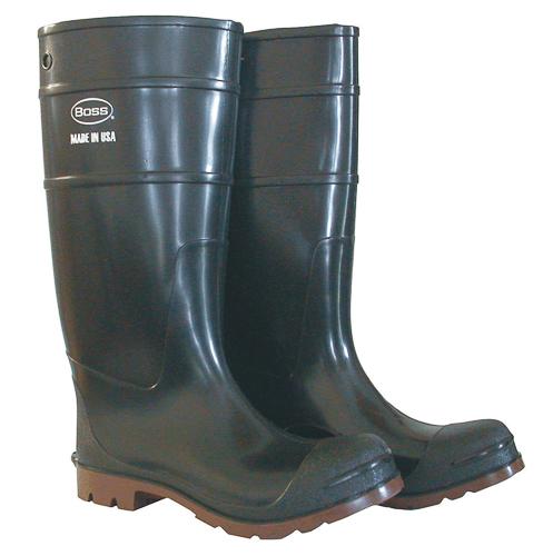 Boss 2Ks645410 Over The Sock Steel Shank Boots Size 10 Men'S Brown 16''T Cushion
