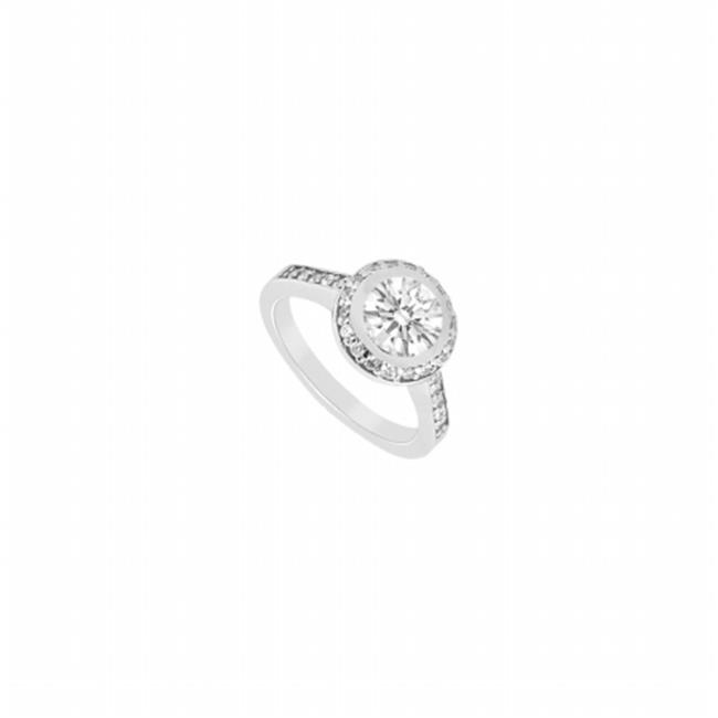 Fine Jewelry Vault UBJS1280AW14D-110RS8 Diamond Engagement Ring 14K White Gold, 1.00 CT - Size 8
