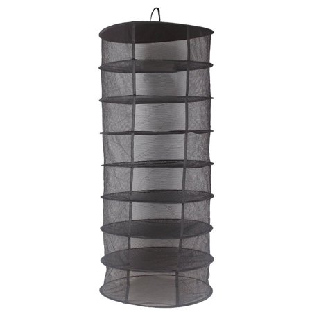 Drying Rack Herb Drying Net Herb Dryer W/Carry Bag Mesh For Herbs Buds Plants (8 Layer, Black)