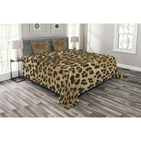 Leopard Print Bedspread Set Skin Pattern Of A Wild