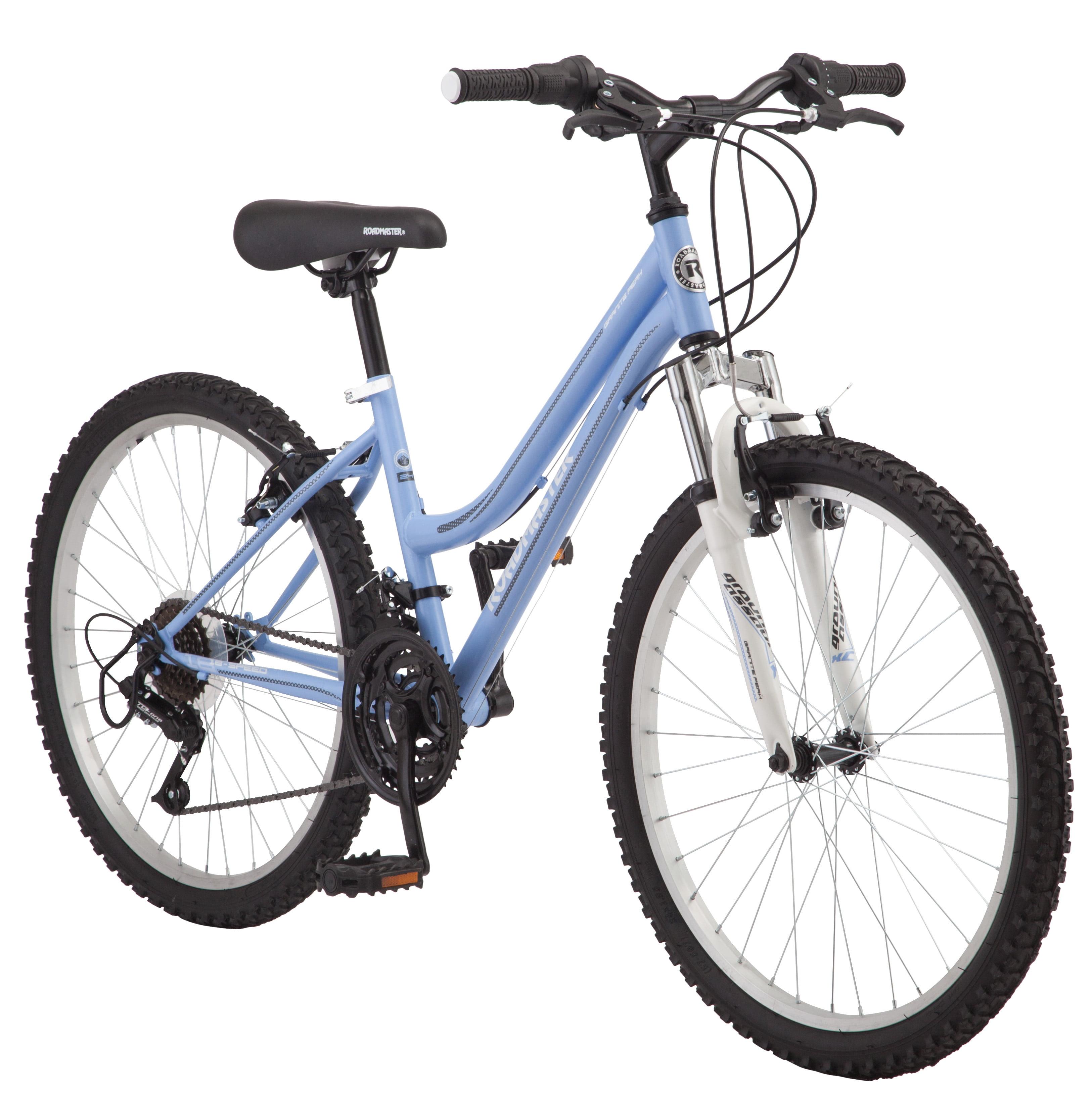 "Roadmaster 24"" Granite Peak Girls Mountain Bike, Light Blue by Pacific Cycle"