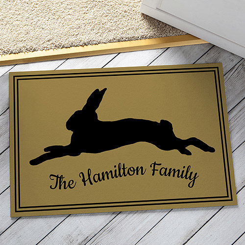 Personalized Sweet Rabbit Doormat