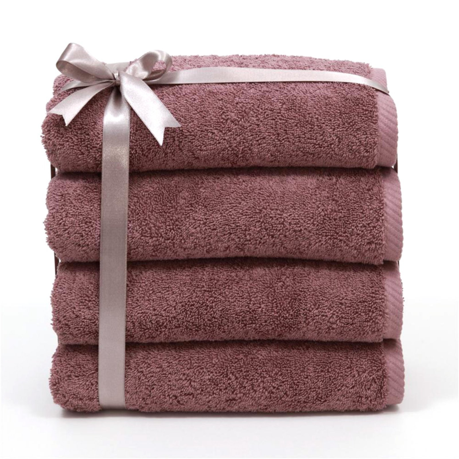 Luxury Hotel & Spa 100% Turkish Cotton Soft Twist Hand Towels - Set of 4