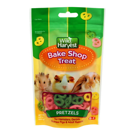 (2 Pack) Wild Harvest Bake Shop Pretzel Treats for Small Animals, 2 - Hamster Treats