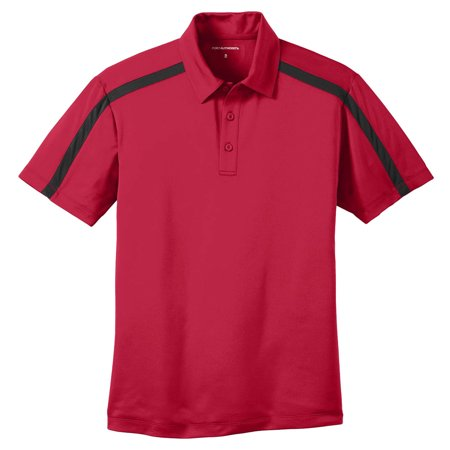 Port Authority Mens Silk Touch Performance Colorblock Stripe Polo