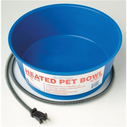 Farm Innovators Heated Pet Bowl, 1 Gallon, Blue by Heated Pet Bowls