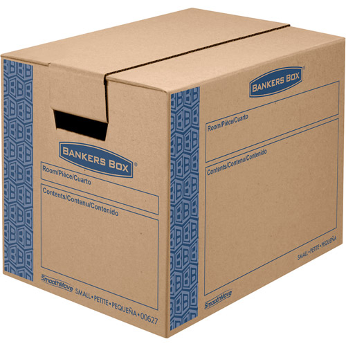 Bankers Box SmoothMove Fast Assembly Tape-Free Moving and Storage Boxes, Small, 10pk