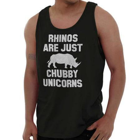 Brisco Brands Rhinos Are Just Chubby Unicorns Unisex Jersey Tank Top Tee