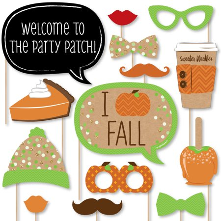 Pumpkin Patch - Fall & Thanksgiving Party Photo Booth Props Kit - 20 - Thanksgiving Party Ideas