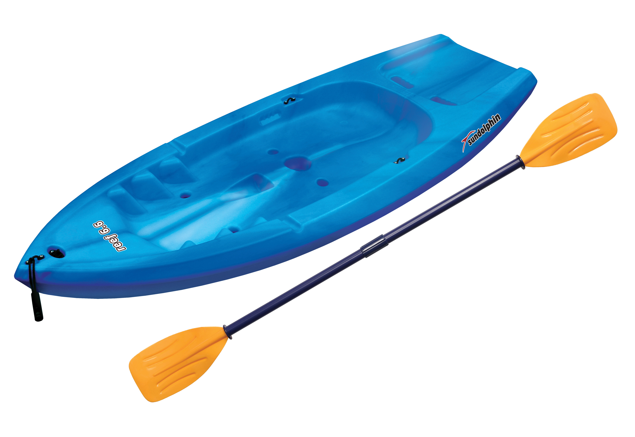 Sun Dolphin Reef 6.6 Sit-On Youth Kayak, Paddle Included by KL Outdoor